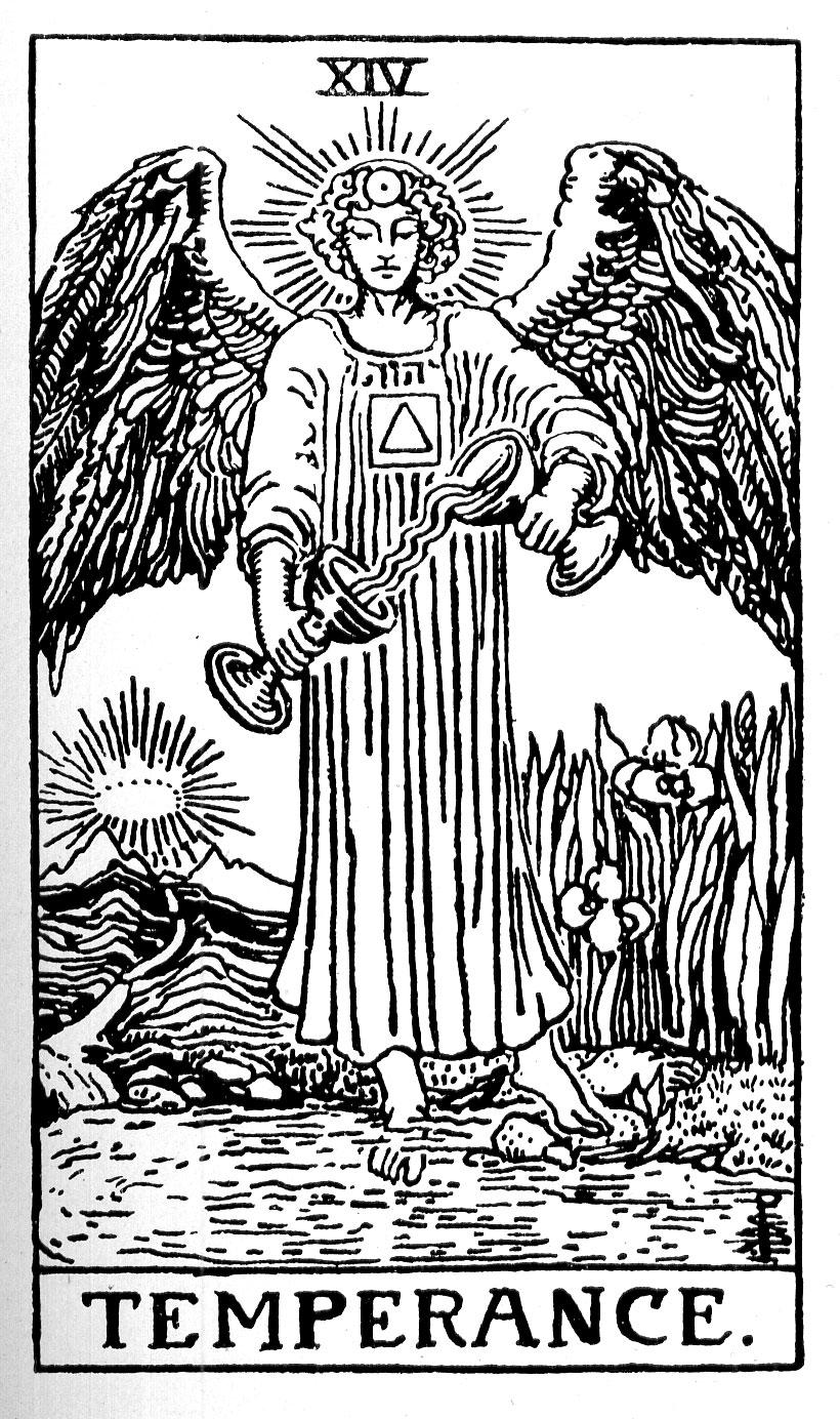 Xiv Temperance Balance Archangel Zadkiel: PKT 1922 Drawings